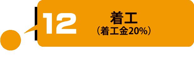 着工(着工金20%)