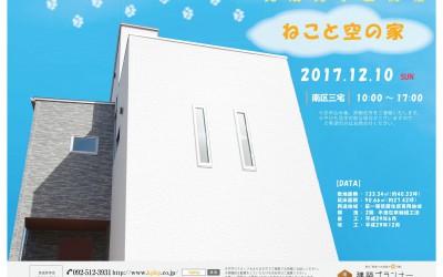 12/10(日)『ねこと空の家』完成見学会